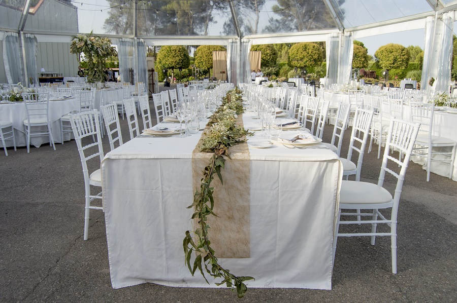 Decoración mesa boda