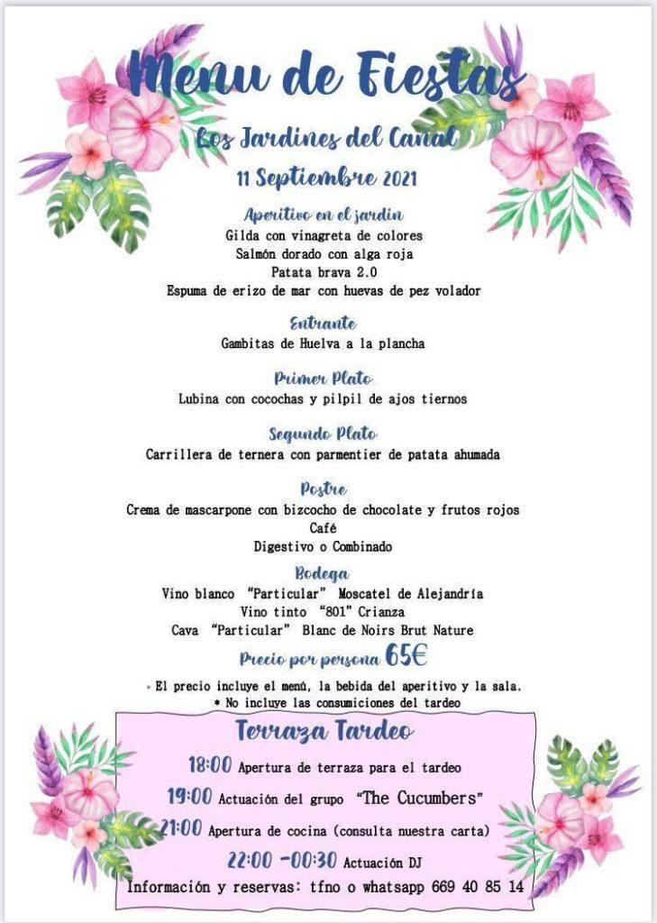 Menú de fiestas Almudévar
